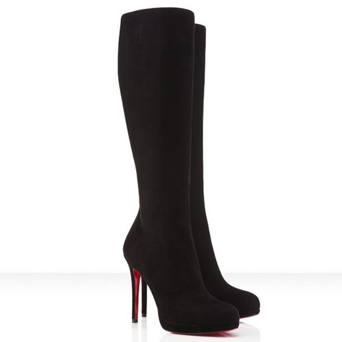 Christian Louboutin New Simple Botta 120mm Suede Boots Black